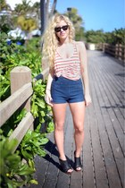 from Urban Outfitters shorts - rayban sunglasses - Lucky Brand clogs
