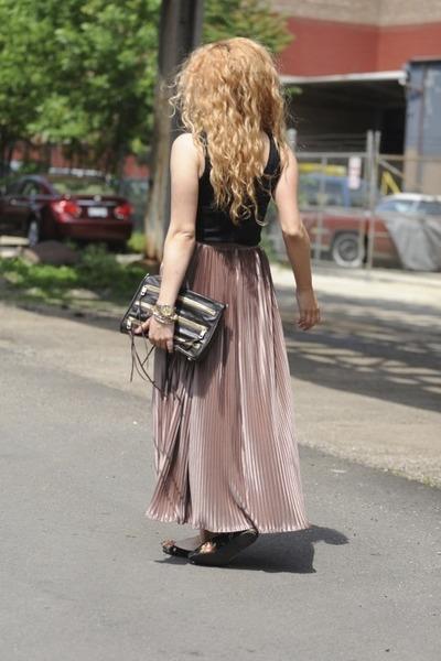 Rebecca Minkoff bag - floral Blowfish flats - American Apparel skirt