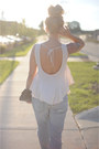 Bdg-jeans-zara-jacket-bcbg-bag-nine-west-heels-pitaya-top