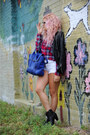 Aeropostale shorts - trask boots - leather Zara jacket - 31 Phillip Lim bag