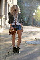 trask boots - trask bag - Levis shorts - J Crew t-shirt