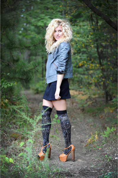 black We Love Colors socks - orange Jessica Simpson shoes - black American Appar