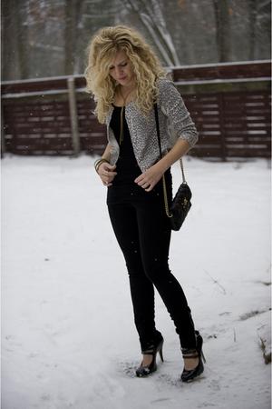 black Joes Jeans leggings - black American Apparel top - black Steve Madden shoe