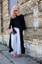 BCBG bag - pants - Steve Madden heels - blouse
