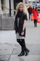gray t by alexander wang dress - black American Apparel tights - black Steve Mad