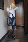 Gray-zara-sweater-black-levi-jeans-black-deena-and-ozzy-boots-gold-bracele