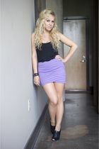 black Ciao Bella shoes - purple SilenceNoise skirt - black Nordstrom top