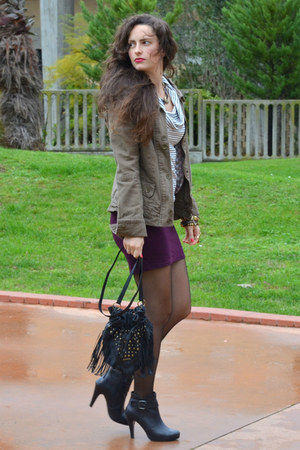 Stradivarius jacket - New Yorker skirt - Zara blouse