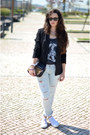 Light-blue-zara-jeans-black-bershka-blazer-black-pimkie-bag