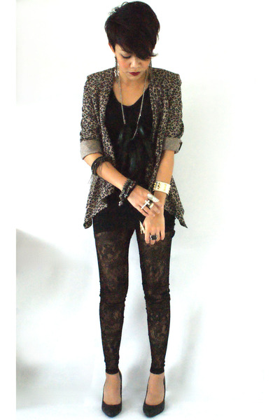 Miss Selfridge jacket - lace leggings Topshop leggings