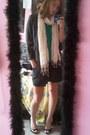 Roxy-dress-xoxo-blazer-kristin-davis-shirt-forever21-scarf-fergalicious-