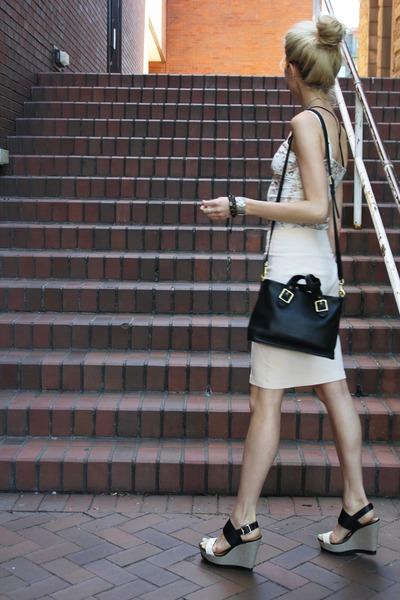 Aritzia shirt - American Apparel skirt - Report wedges