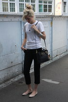 coach bag - oakfort pants - American Apparel t-shirt - Call it Spring flats
