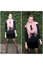crushed velvet Guess skirt - American Apparel shirt - H&M scarf