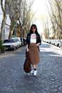 Red-zara-sunglasses-white-adidas-sneakers-burnt-orange-calvin-klein-skirt