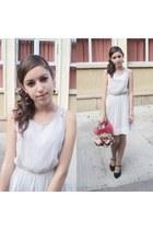 white white silk Zara dress