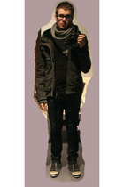 H&M scarf - David Bitton  Buffalo coat - H&M jeans - Aldo shoes
