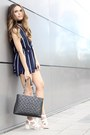Chanel-bag-rose-gal-romper-geox-sandals-brandy-melville-necklace