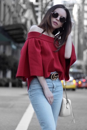 JAC by JC top - Zara shoes - Oak and Fort jeans - Gucci bag