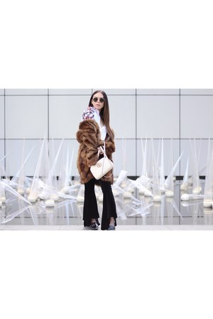 zaful pants - Nine West shoes - Guess coat - Gucci bag - Ray Ban sunglasses
