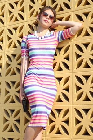 Shoot the Moon LA necklace - Shoot the Moon LA dress - Chanel purse