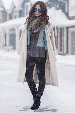 H&M coat - Zara boots - American Eagle jeans - Rebecca Minkoff bag