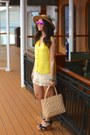 Forever-21-hat-chanel-bag-ray-ban-sunglasses-toms-sandals-h-m-top