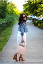 Shals necklace - American Eagle dress - old jacket - Chanel bag