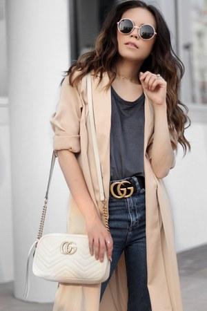 Gucci bag - H&M jeans - Forever 21 jacket - Sunglass La sunglasses