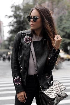 Zara boots - le chateau jeans - le chateau jacket - Chanel bag