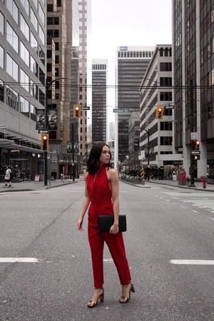 asos dress - Pretty Little Thing coat - Saint Laurent bag - DSW heels