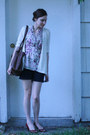 Silk-banana-republic-shirt-thrifted-bag-american-eagle-shorts-vintage-heel