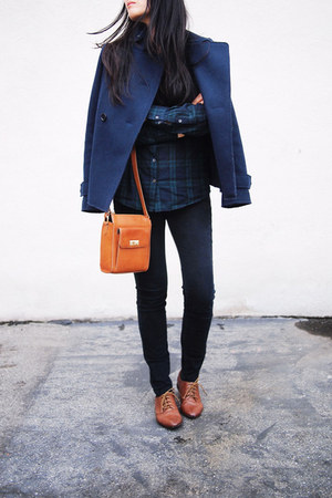Uniqlo Jil Sander coat - Zara shoes - J Crew shirt - J Crew bag