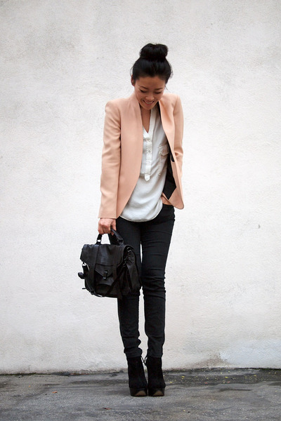 Zara blazer - Topshop boots - PROENZA SCHOULER bag