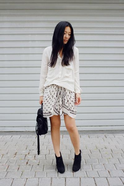 Zara skirt - Barneys boots - Zara shirt - PROENZA SCHOULER bag