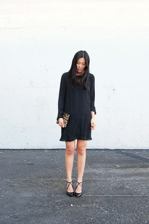 black H&M dress - black Zara heels