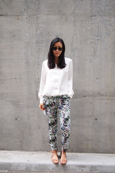 Zara pants - ivory H&amp;M shirt