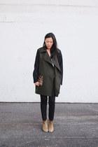 black Mango coat - camel Isabel Marant boots - black Eugene jeans