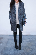 black H&M coat - Barneys boots - American Apparel bag