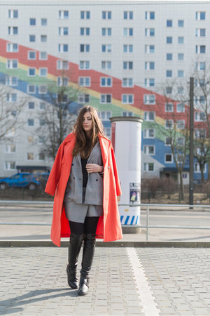 carrot orange asos coat