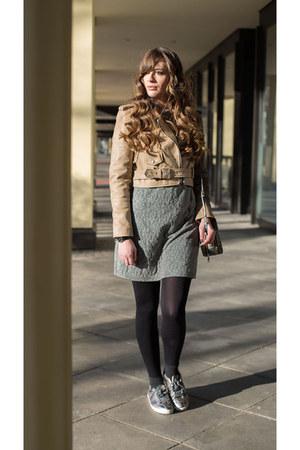 brown asos jacket - light brown Zara sneakers