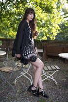 black Jeffrey Campbell boots - black Rat & Boa dress