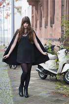 black Clarks boots - black Choies dress - black H&M necklace