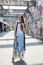Maxi Dress and Boho Vest