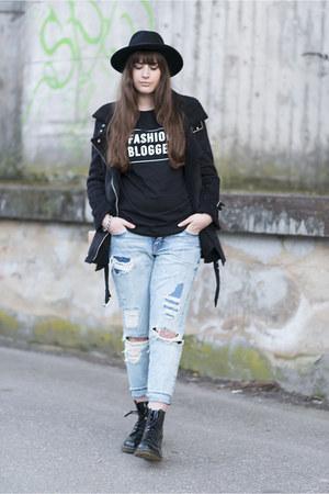 black asos shirt