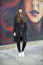 Black-adidas-dress-black-all-saints-coat-white-adidas-sneakers