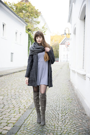 heather gray duo boots boots