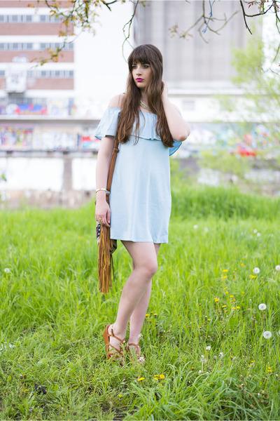 light blue Bershka dress