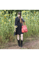 black Sacha boots - black vive maria dress