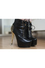 Black-jepo-boots-black-chicwish-dress